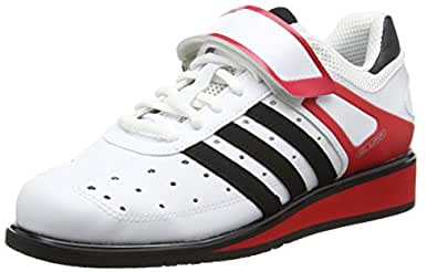 adidas  Power Perfect Ii, Multi-sports - Intérieur Unisexe adulte, Blanc (White/Black/Red), 36 2/3