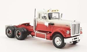 White Road Boss, blanche/rouge, Solozugmaschine, 1977, Model Car, Miniature déjà montée, Neo 1:43