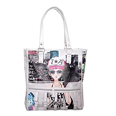 1713b20689 qooqle Barbie Doll Women Shoulder Bag - Silver Color: Amazon.in ...