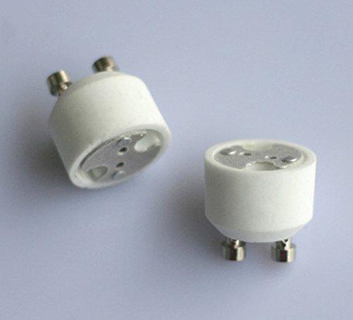 10x Neu GU10 auf MR16 GU5.3 Licht Lampe Sockel Adapter Konverter Lampe Halter -