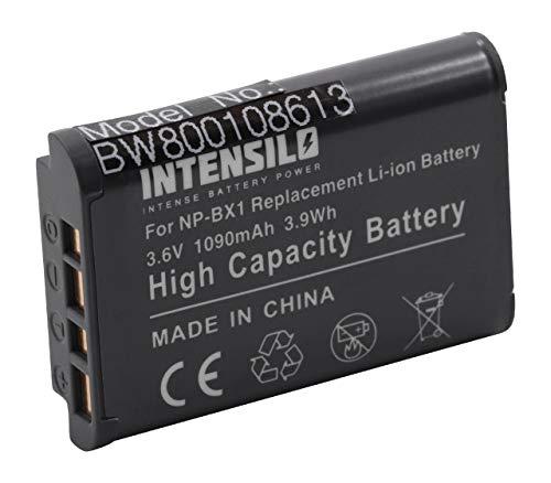 INTENSILO Batería Li-Ion 1090mAh (3.6V) para cámara, videocámara Sony HDR-CX240E, HDR-CX405, HDR-PJ240 reemplaza NP-BX1.