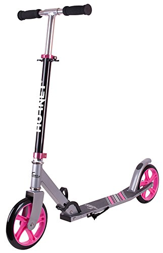 Hudora Hornet Roller Scooter 200 schwarz/pink 14523 Cityroller