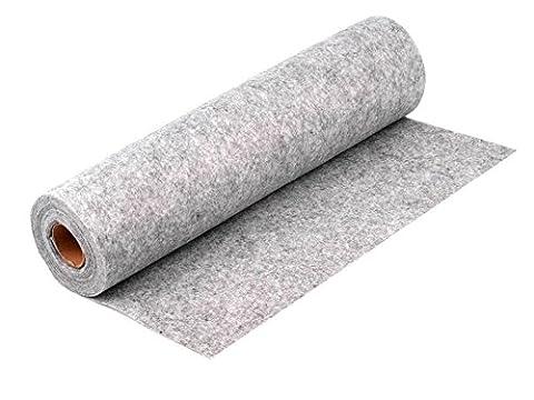 BUSDUGA Bastelfilz auf Rolle ca. 500cm lang und 40cm breit - wählen Sie ihre Farbe (grau)