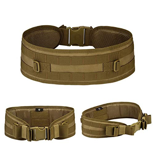 ZHYAODAI The Army Commander, Police Gear Tactics Gears Waist Belts Mens Girdle Combat Waist Belts Waist Strap (1Pcs), Khaki