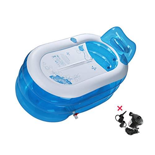 Große aufblasbare Badewanne Faltbare Badewanne für Erwachsene Thincking Badefass Badefass Plastikbadewanne Freistehendes Duschbecken Whirlpool Luft-Swimmingpool ( Color : Blue ) - Außerhalb Der Kurve