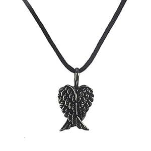 Nox Et croisé-argent Sterling 925 pour Femme-Ailes d'ange Pendentif Collier cordon