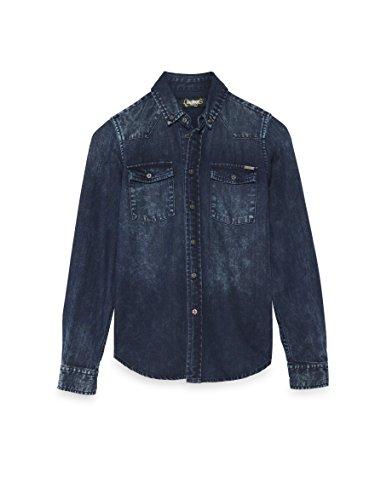 COLORADO DENIM Baby-Jungen Hemd , Blau (Dark Blue Wash 801), 176 (Herstellergröße: 170/176)