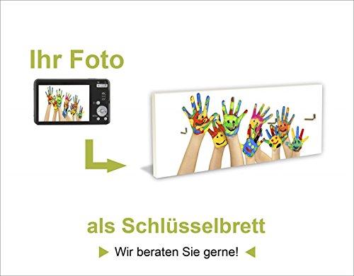 Artland Schlüssel-Brett mit Motiv bedruckt auf Holz mit 4 Haken Wunschmotiv Ihr Foto drucken 14,8 x 40 x 1,6 cm
