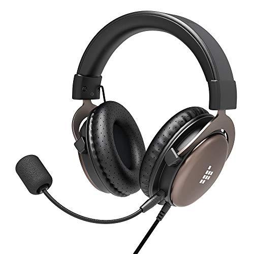 Tronsmart-SONO Cuffie Gaming per PS4 con microfono pieghevole Staccabile,Wired USB 3.5mm Cuffie da Gioco con Driver da 50 mm per Xbox One/Xbox One S/Nintendo Switch/PC/Laptop