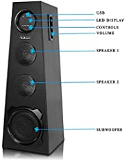 Bencley Triangle Tower Speaker 25000W PMPO with Bluetooth/Aux/USB/Mic Port (2 ft Height)