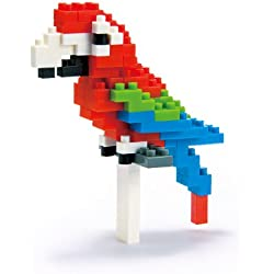 Nanoblock: Animal Assortment: Red and Green Macaw
