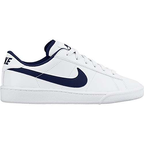 Nike Classic (Gs), Chaussures de Tennis Garçon, Blanc, 38.5 EU Multicolore - Blanco / Azul Marino