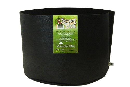 Smart Pots Récipient Côtés Flexibles 15 Gallon Noir