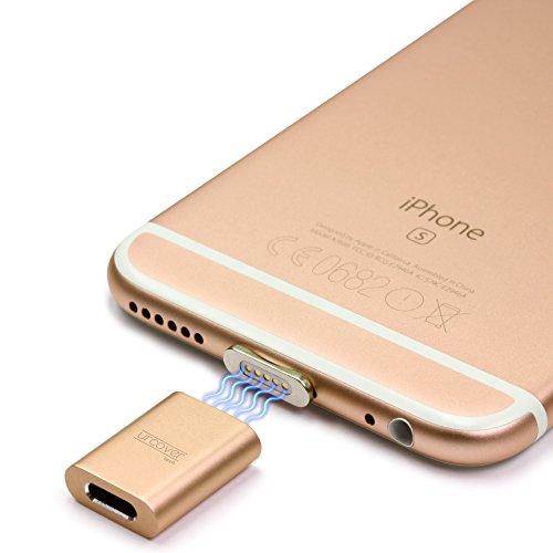 Urcover Tech Snap Adapter Set Magnetisches iPhone Lightning Kabel Adapter Champagner Gold Snap [ Fast Charging ] kompatibel mit Apple iPhone Smartphones (Für Tech-matte Iphone)