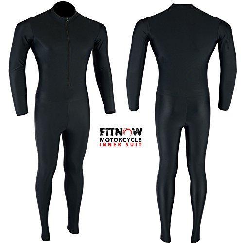 Motorrad Base Layer Kompression Lycra Innen Rash Guard Anzug einem Stück schwarz, Black £19.99, xl (Lycra Anzüge)