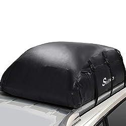 Sailnovo Faltbare Auto Dachbox (20 Kubikfuß 1000D Wasserdicht Dachtasche)