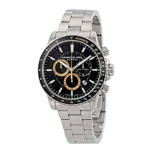 Raymond Weil orologio al quarzo, nero, 43mm, cronografo, 8570-st1–20701