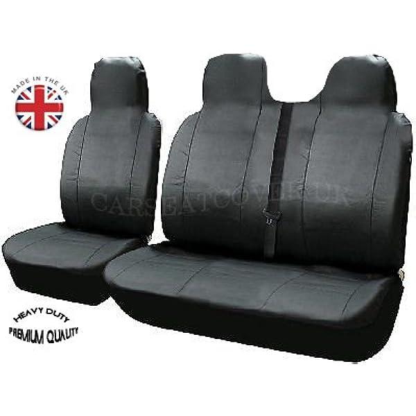 Heavy Duty Premium Leather Look Van Seat Cover Protectors Peugeot Boxer SWB