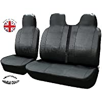 Carseatcover-UK® Heavy Duty LEATHERETTE UK MADE Van Seat Covers - Single + Double