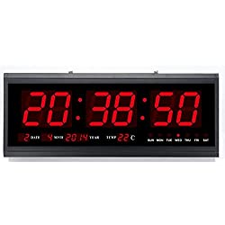 Gowe Alu Alloy Case LED digital Calendar with 3inch Large number display