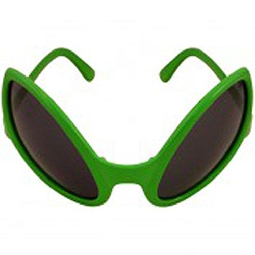 Grüner Brillenrahmen für Erwachsene im Alien-Käfer Design  Faschings-/Karnevalskostüm, Sonnenbrille, Eigenschaften: