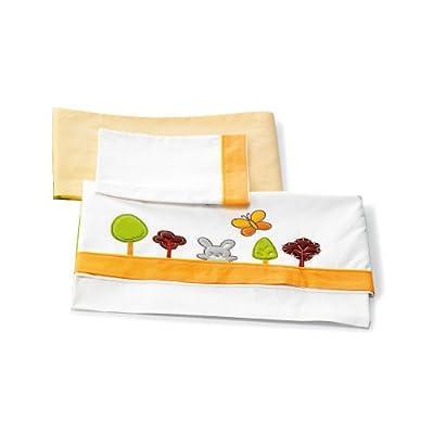 Pali Spa Bosco - Set de sábana con 3 piezas para cuna, color naranja