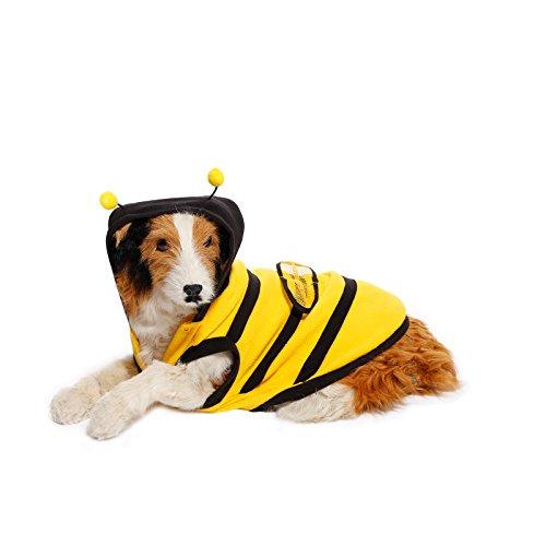 Hundemantel Hoodie Hund Katze Welpenkleid Hundejacke Bienenkostuem Outfit (Kostüm Hund Im Biene)