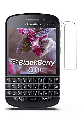 moex 2X BlackBerry Q10 | Schutzfolie Klar Bildschirm Schutz [Crystal-Clear] Screen Protector Display Handy-Folie Dünn Bildschirmschutz-Folie für BlackBerry Q10 Bildschirmfolie