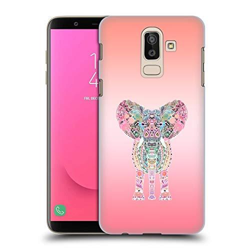 Head Case Designs Offizielle Monika Strigel Rosa Gipsy Elefant Harte Rueckseiten Huelle kompatibel mit Samsung Galaxy J8 (2018)