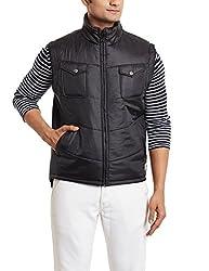 Flying Machine Mens Cotton Jacket (8903952769440_FMJK0339_Large_Black)