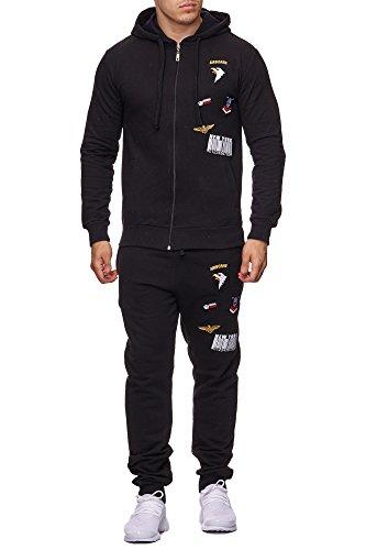Violento Herren Jogging-Anzug USA-Patches 685 (XXL-Slim, - Adidas Pes Trainingsanzug Sereno 14 Herren