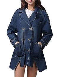 d6d106480ade Damen Jeansjacke Frühling Herbst Elegante Festliche Vintage Mode Marken  Outerwear Jacke Lässig Langarm Revers Mit Taschen