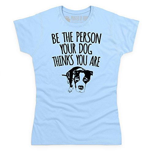 Your Dog Knows You T-Shirt, Damen Himmelblau
