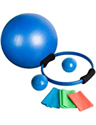 Movit Uni 7 Teiliges Pilates Set, Blau, one size
