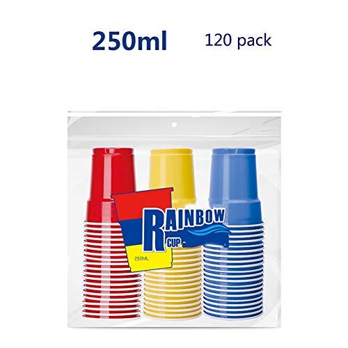 ic cup 120 Einweg-Kunststoff-Eiskaffee Tee-Trinkbecher - 200ml, 250ml-Becher Trinkbecher (größe : 250ml) ()