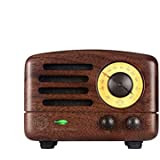Douk Audio Mini Stereo Wood Portable Speaker; Phone Class D Bluetooth 4.0 FM Radio; Wireless Receiver Music Player With Built-in Battery (wood Shell)
