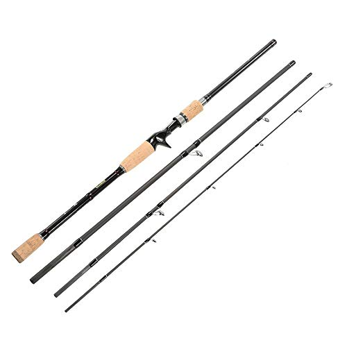 GXYWPF 2.1M,2.4M Spinning Casting Angelrute, 4 Abschnitte, 99% Carbon Rods, Fischerei,2.4MBaitcastingFishingRod