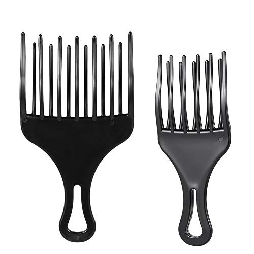 LFDSZ 2 Stück Einfügen Haarbürste Kamm Afro Haarbürste Kamm Gabel Haarbürste Kunststoff High Low Gear Haarbürste Friseur Styling-Tool -
