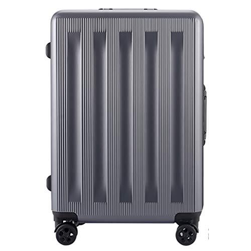 Rollende Laptop-Tasche, leichtes Gepäck beim Check-in Koffer mit 4 Rollen aus Aluminiumrahmen, Reisetasche aus ABS-Hartschale, mit TSA-Verschluss (24 Zoll, 64 cm, 4,5 kg) -