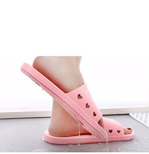 TELLW Pantofole da Bagno per Uomo e Donna Indoor Home Points Pedicure Scarpe Coppie Non-Slip Bagno Fresco Estate Pantofole Rosa