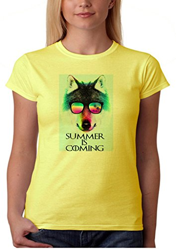 GameOfThrones Summer Is Coming Stark Wolf Sunglasses Women' s Shirt Custom Made T-shirt (M)