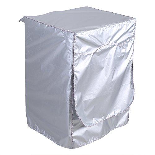 Asixx Waschmaschinenbezug, Abdeckung für Waschmaschinen aus Polyester Wasserdicht und Sonnenschutz, Staubdicht und Anti-Aging, 62 x 59 x 81 cm