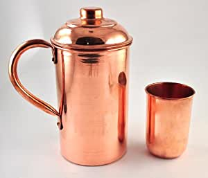 Buy karmakara handmade pure copper vessel drink ware for Kitchen set vessels