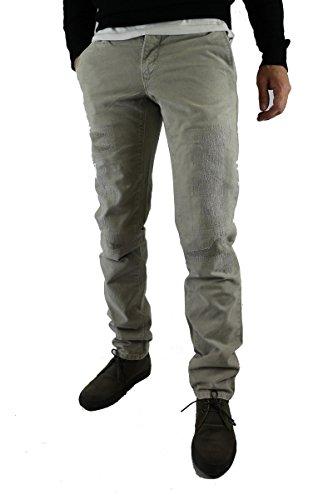 pantaloni uomo SIVIGLIA size 30 grigio cotone AM49