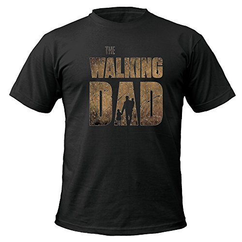 The walking dad t-shirt nero black