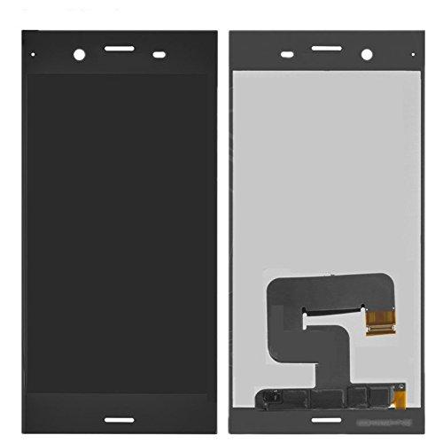 Sony Xperia XZ1 G8341 G8342 kompatibles Ersatz Display LCD Touch Screen Glas Scheibe schwarz + Werkzeug & Klebeband (Lcd-screen-glas Digitizer)