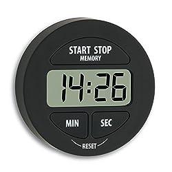 TFA Dostmann 38.2022.01 Digitaler Timer und Stoppuhr, klein und handlich, magnetisch, mit Memory-Funktion, schwarz