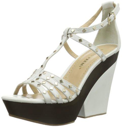Bruno Premi X6004X, Scarpe con cinturino alla caviglia donna, Bianco (Weiß (Bianco)), 40