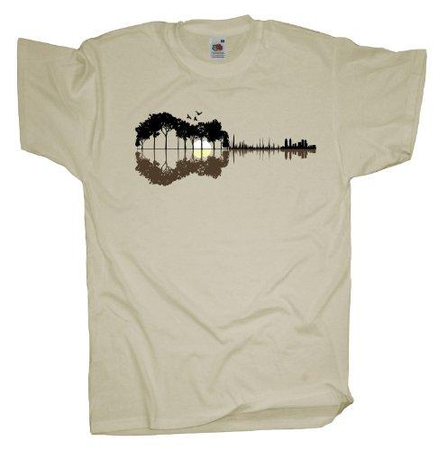 Ma2ca - Sounds from the Woods Herren T-Shirt | Musik Gitarre Band Shirt Natural