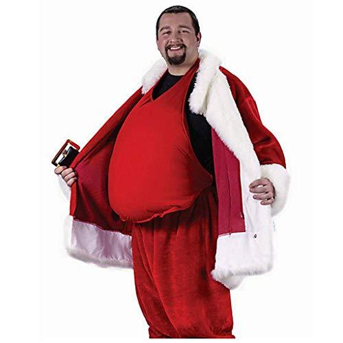 LOPILY Weihnachtskostüme Unisex Wampe Weihnachtsmann Dicker Bauch XXL Kostüm Zubehör Nikolaus Kostümzubehör Bauchkissen Kissen Bierbauch Weihnachten Santa Claus Accessoires